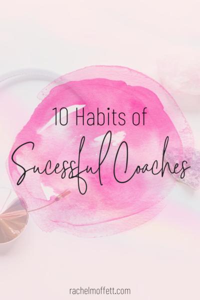 habits of successful coaches